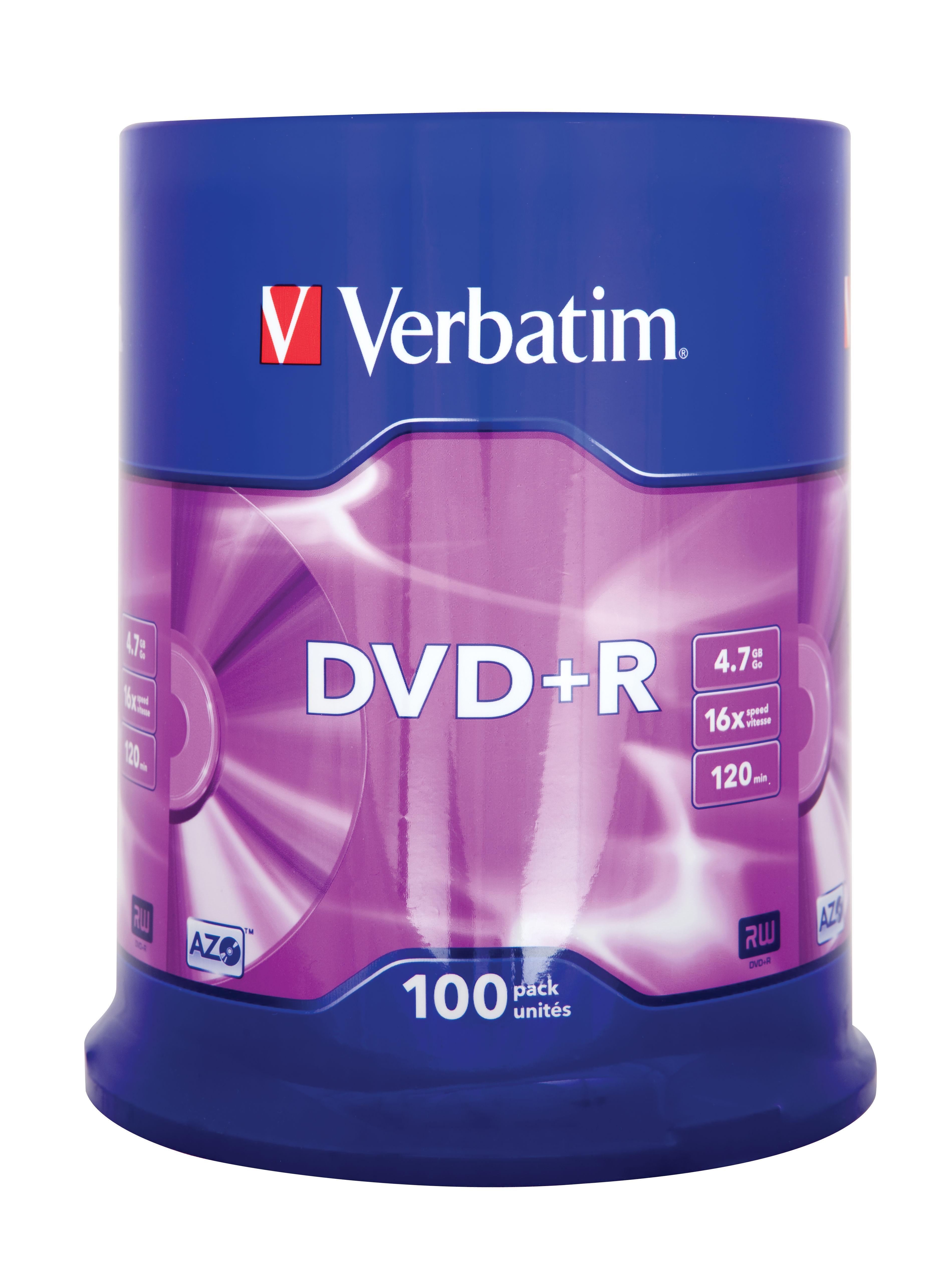discatonce verbatim dvd r 16x 100 pack. Black Bedroom Furniture Sets. Home Design Ideas
