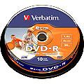 Verbatim 8cm DVD-R 4x, printable, 10 pack