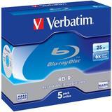 Verbatim BD-R, 6x, 25GB, jewelcase, 5-pack