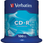 Verbatim CD-R 52x, spindel, 100-pack