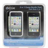Dexim kit med tillbehör för iPhone 4, 5 delar, svart