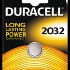 Duracell knappcellsbatteri, CR 2032, Lithium, 3V, 1-pack