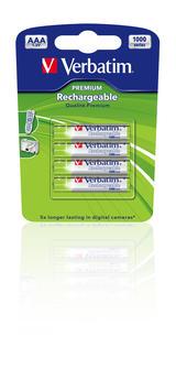 Verbatim laddningsbara batterier, AAA