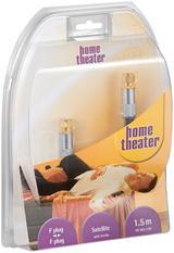 Home Theater, Antennkabel, F-kontakt hane - F-kontakt hane, 5m, grå