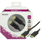 Deltaco DisplayPort monitorkabel, 5m, svart, retail