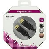 Deltaco DisplayPort monitorkabel, 5m, svart, retail