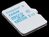 Kingston UHS-I U3, microSDHC-kort, Class 10, 16GB