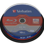 Verbatim BD-RE SL, 2x, 25GB, spindel, 10-pack