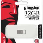 Kingston DataTraveler Micro 3.1 minne, 32GB, metall, silver