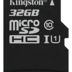 Kingston minneskort, UHS-I microSDHC, Class 10, 32GB