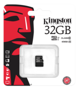 Kingston minneskort, UHS-I microSDHC, Class 10, 32GB