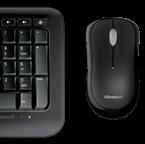 Microsoft - Wireless Comfort Desktop 850, Trådlöst tangentbord med mus, Nordisk Layout, svart