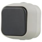 EPZI Strömställare med en knapp, för utanpåliggande montering, IP54, 1 polig, grå