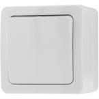 EPZI Strömställare med en knapp, för utanpåliggande montering, IP54, 1 polig, vit