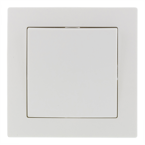 EPZI Strömställare med en knapp, för infälld montering, 1 polig, vit