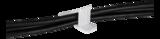 Deltaco självhäftande kabelklämma i plast, innermått 25x12x28mm, 6-pack, vit