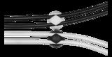 Deltaco självhäftande kabelhållare i gummi, innerdiamater 8mm, 6-pack, svart/vit/grå
