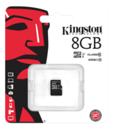 Kingston minneskort, UHS-I microSDHC, Class 10, 8GB