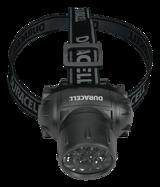 Duracell HDL-1 Explorer pannlampa, 4 olika ljuslägen, justerbart band, svart
