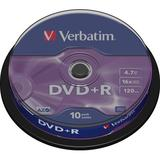 Verbatim DVD+R 16x, 10 pack