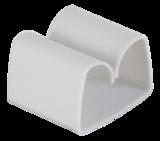 Deltaco självhäftande kabelklämma i plast, innermått 29x9mm, 4-pack, vit
