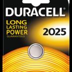 Duracell knappcellsbatteri, CR 2025, Lithium, 3V, 1-pack