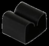 Deltaco självhäftande kabelklämma i plast, innermått 29x9mm, 4-pack, svart