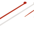 Deltaco buntband, 100mm & 200mm, 40-pack, röd/vit