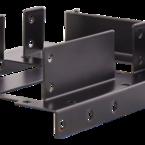 """Deltaco monteringsram för 2x2,5"""" och en 3,5""""-hårddisk i en PCI-plats, maxhöjd 9,5mm, metall, svart"""