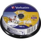 Verbatim DVD+RW 8cm, printable, 10 pack