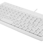 Deltaco minitangentbord, nordisk layout, USB, 1,5m kabel. vit