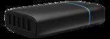 Winstar USB-laddningsstation, 100-240V till 5V USB, 9A, 5xUSB-portar, 45W, svart