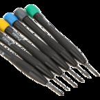 Pro'sKit, kit med mejslar, 6-delar, slitsade+precision, svart/olika färger