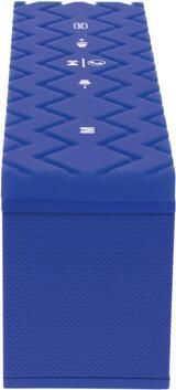 SoundCrush Quard Trådlös portabel Bluetooth-högtalare, blå