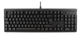 Deltaco Mekaniskt tangentbord, anti-ghosting, nordisk layout, tygklädd kabel, 1,5m, USB, svart