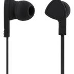 STREETZ in-ear hörlurar med mikrofon, 3,5mm anslutning, svarsknapp, trasselfri, 1,2m kabel, svart