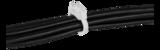 Deltaco kabelklämma i plast, 17,5x22mm, återanvändningsbar, 6-pack, vit