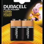 Duracell Plus Power alkaliskt batteri, LR61 (6LF22/MN1604), 9V, 2-pack