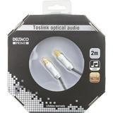 Deltaco Prime High End, optisk kabel för digitalt ljud, Toslink-Toslink, 2m