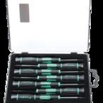 Pro'sKit, kit med mejslar, 7-delar, AISI 8660 krom-Molybden vanadin, svart/grön