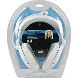 DELTACO headset med mikrofon och volymkontroll, vit