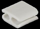 Deltaco kabelhållare i mjukt gummi, innermått 8x10mm, 4-pack, vit