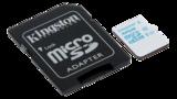 Kingston UHS-I U3, microSDHC-kort, Class 10, 32GB