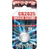 Maxell knappcellsbatteri lithium, 3V, CR2025, 1-pack