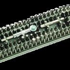 Pros'Kit SD-2310, kit med mejsel och 96 olika bitsar, magnetisk, plastlåda, grå