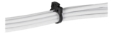 Deltaco kabelklämma i plast, 17,5x22mm, återanvändningsbar, 6-pack, svart