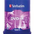 Verbatim DVD+R 16x, 100 pack