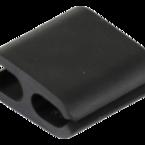 Deltaco kabelhållare i mjukt gummi, innermått 8x10mm, 4-pack, svart