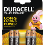 Duracell Plus Power alkaliskt batteri, AAA (LR03), 1,5V, 4-pack
