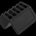 Deltaco självhäftande kabelhållare i plast, 5 platser, 8mm, 2-pack, svart